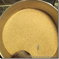 dry roasting semolina